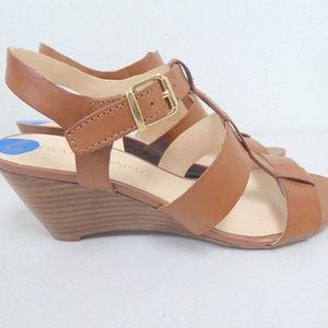 NEW FRANCO SARTO STRAPPY WEDGE SANDALS HEELS 7.5